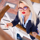 Sexy blonde business woman wearing glasses - PhotoDune Item for Sale