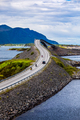 Atlantic Ocean Road Two bikers on motorcycles. - PhotoDune Item for Sale