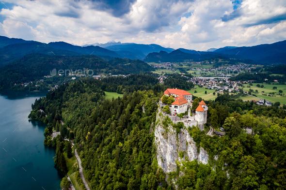 Slovenia Beautiful Nature - resort Lake Bled. - Stock Photo - Images