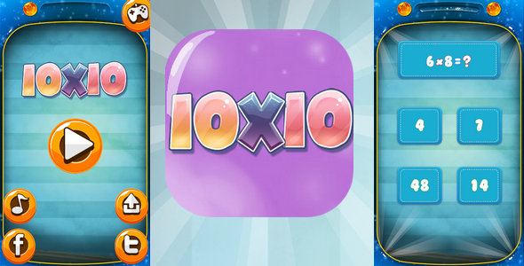 Download Ten on ten - A mathematical game. Admob, facebook, twitter