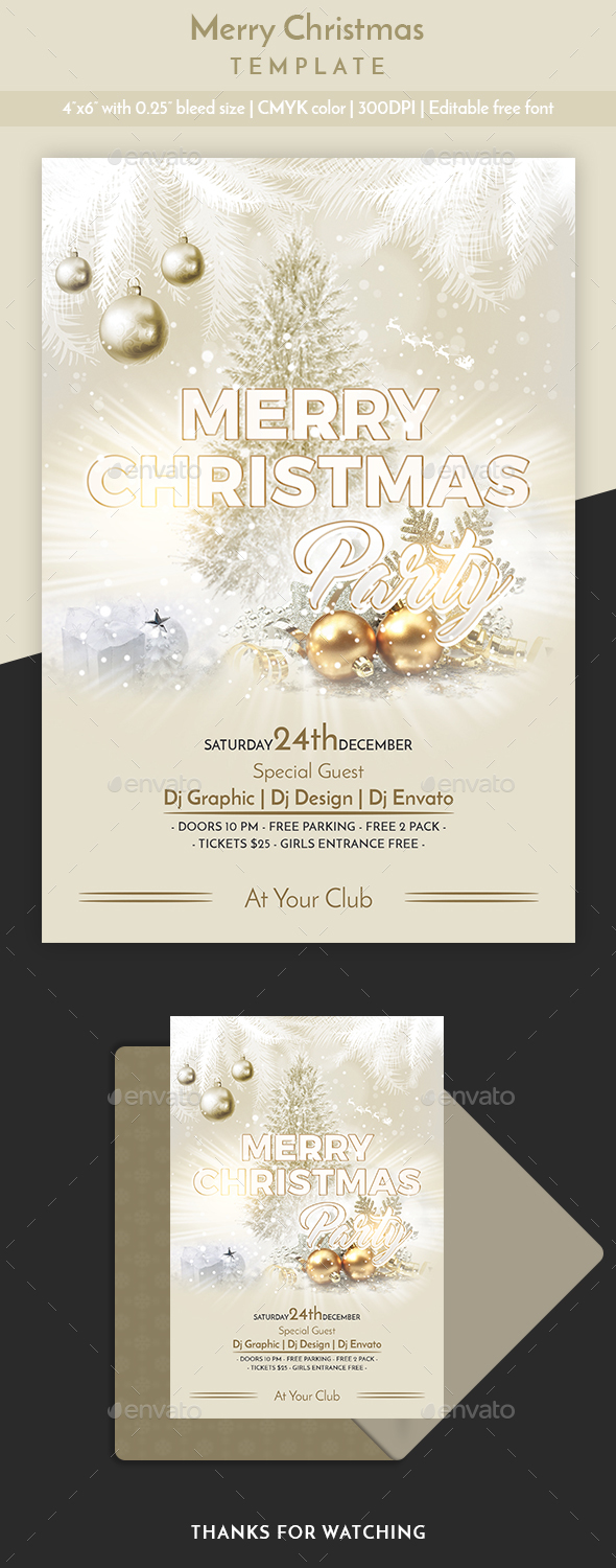 Merry Christmas Template - Flyers Print Templates