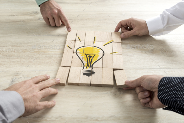 Conceptual of business strategy, creativity or teamwork - Stock Photo - Images