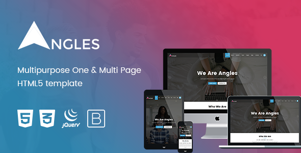 Angles - Multipurpose One & Multi Page HTML5 template