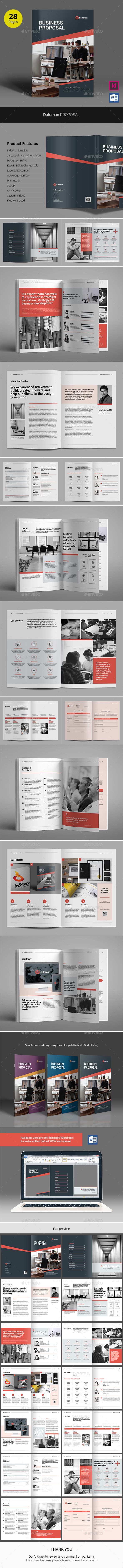 GraphicRiver Daleman Business Proposal 21005663
