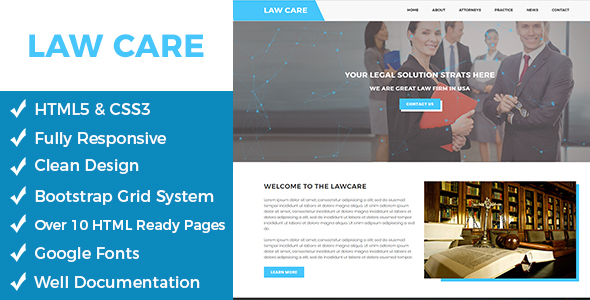 Lawcare – Lawyers Html Template