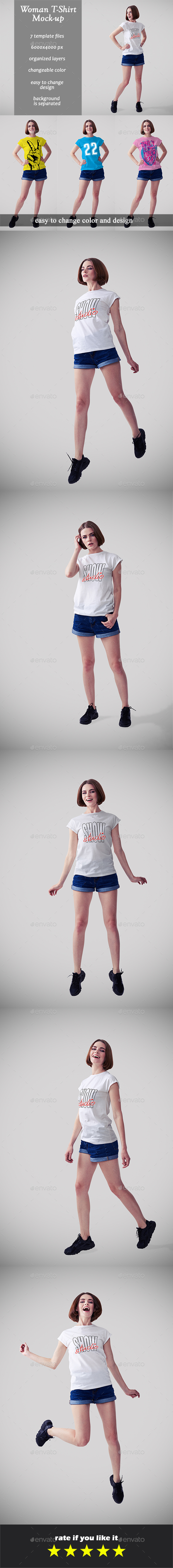 Woman T-shirt Mock-ups vol. 1 - T-shirts Apparel