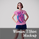 Woman T-shirt Mock-ups vol. 1 - GraphicRiver Item for Sale