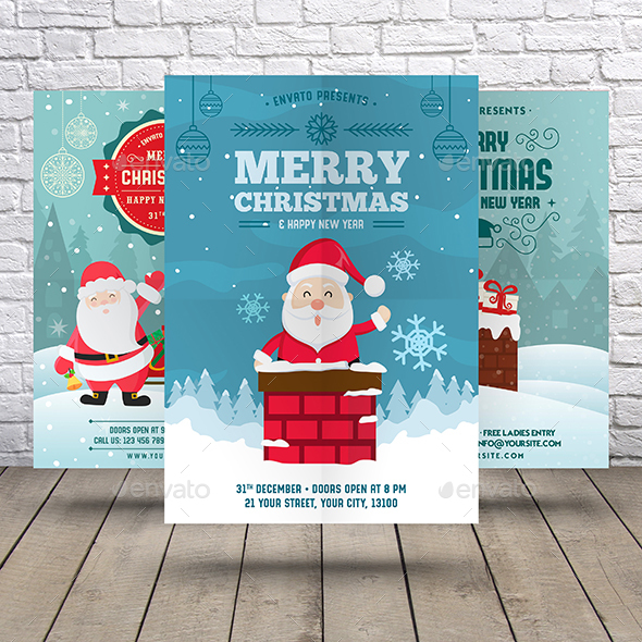 GraphicRiver Christmas & New Year Flyer Bundle 21005707