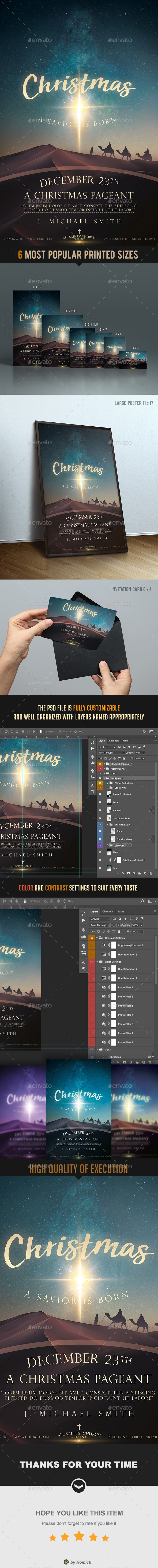 GraphicRiver Christmas Church Poster & Flyer 21005716