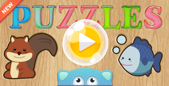 Download Puzzles-educational children's game, AdMob