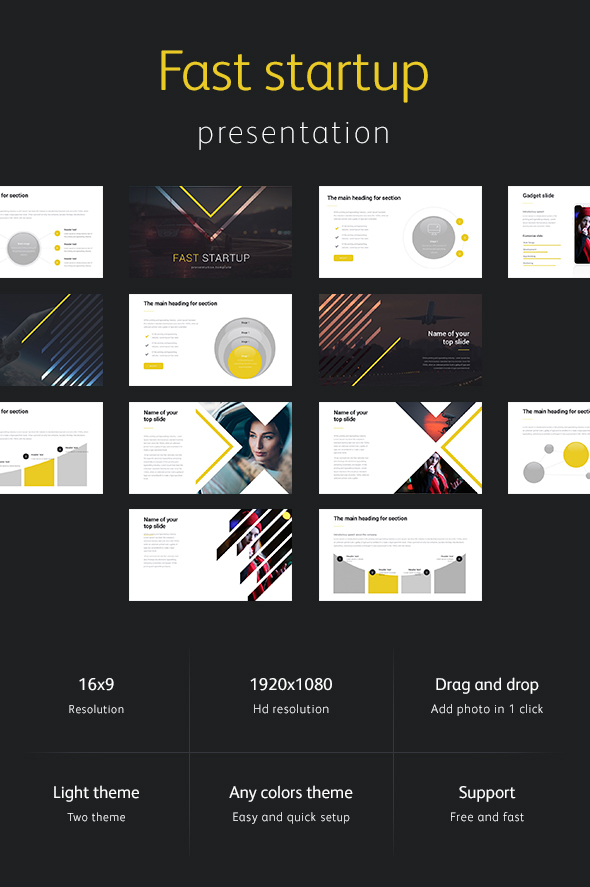 GraphicRiver Fast Startup Keynote Template 21005769