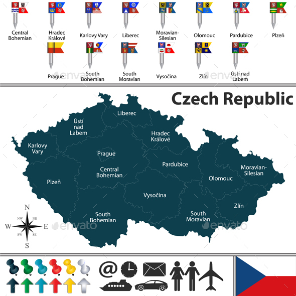 GraphicRiver Map of Czech Republic 21005820
