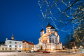Tallinn, Estonia. Evening View Of Alexander Nevsky Cathedral. Fa