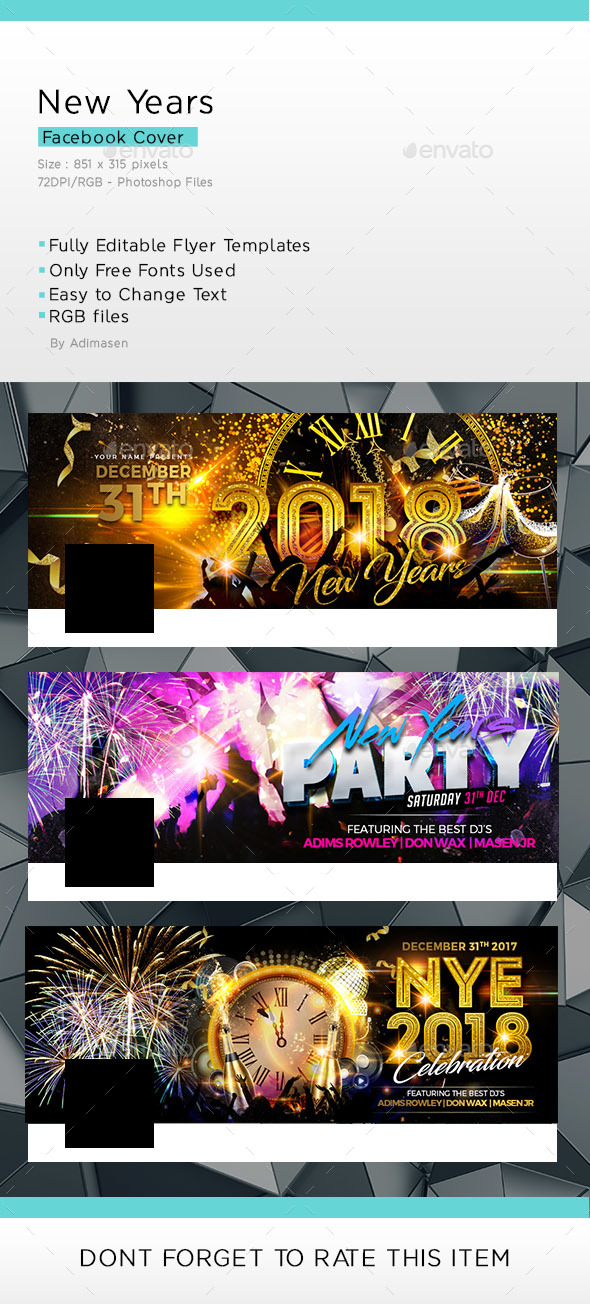 GraphicRiver New years Facebook cover 21005866