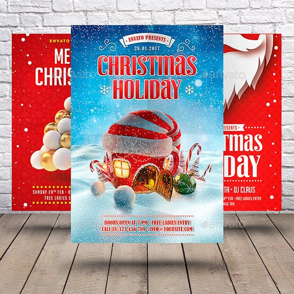 GraphicRiver Christmas Flyer Bundle 21005871