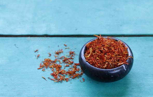 Spice Saffron - Stock Photo - Images