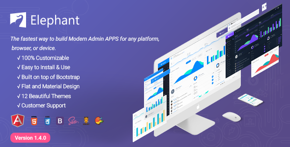 Elephant - Dashboard and Admin Site Responsive Template - Admin Templates Site Templates