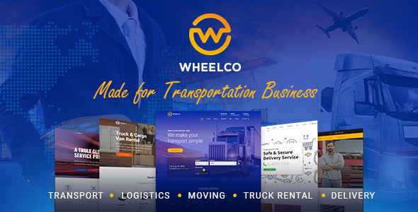 Wheelco - Transportation WordPress Theme