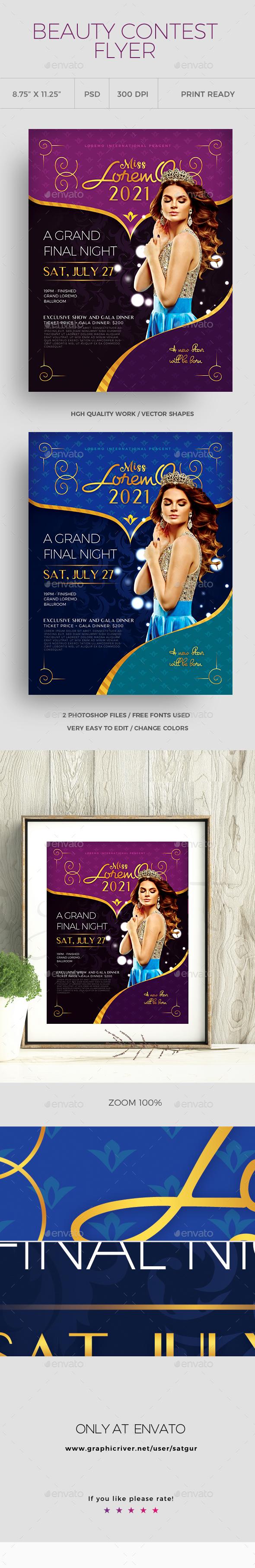 GraphicRiver Beauty Contest Flyer vol1 21006203