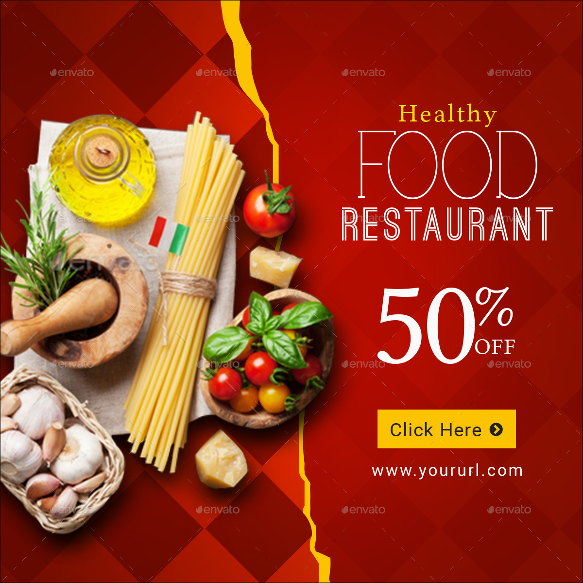 food restaurant banner set by doto graphicriver