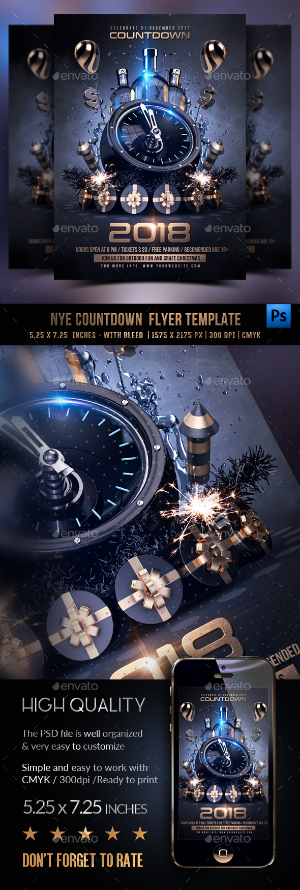 GraphicRiver New Year Party Flyer 21006309