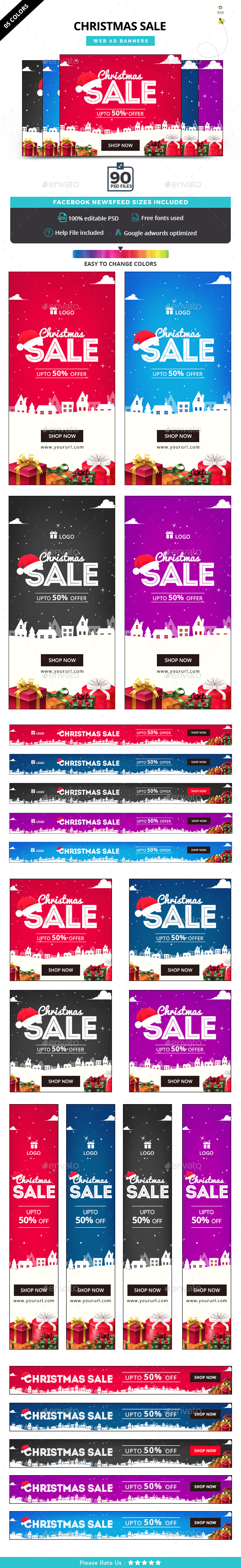 GraphicRiver Christmas Banner Set 21006319