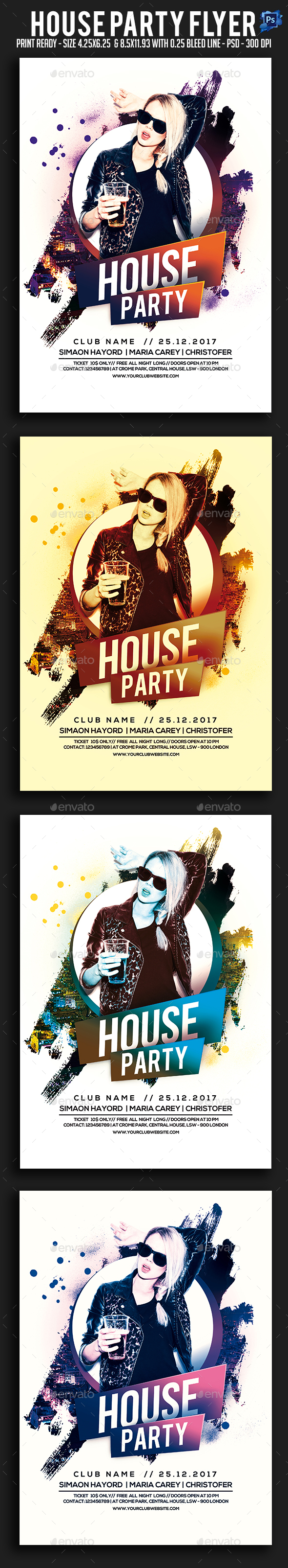 GraphicRiver House Party Flyer 21006352