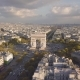 Aerial view of Triumphal Arch in Paris - VideoHive Item for Sale