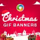 Christmas Sale Animated Gif  Banner Set - GraphicRiver Item for Sale