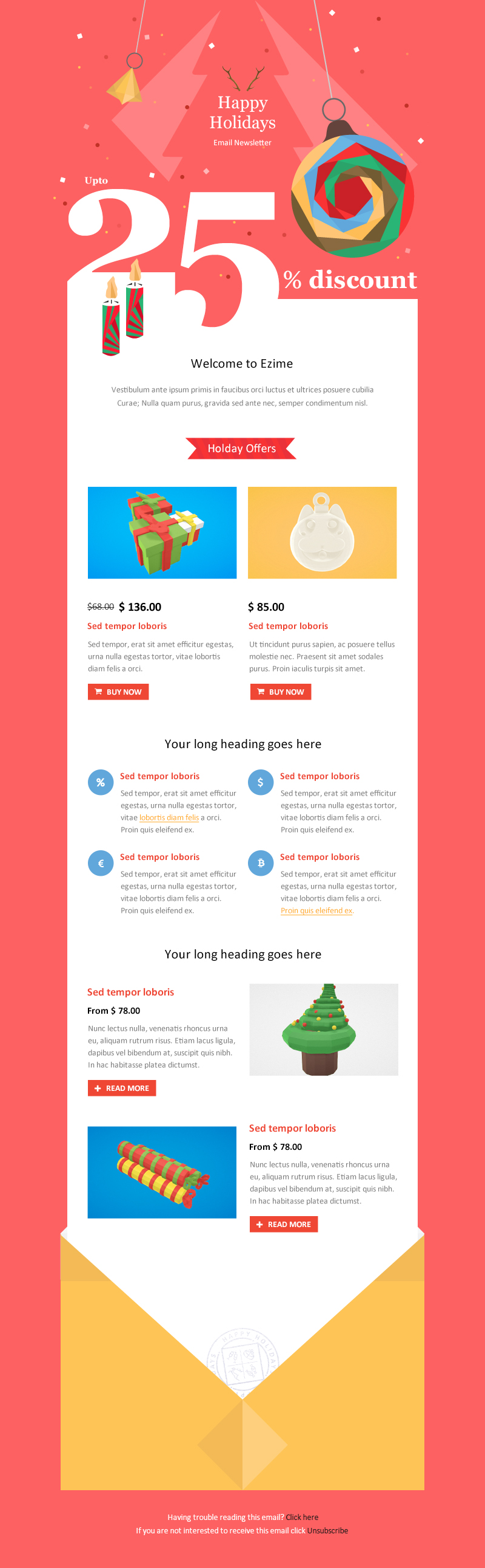 Christmas and New Year-Multipurpose Responsive Email Template With ...