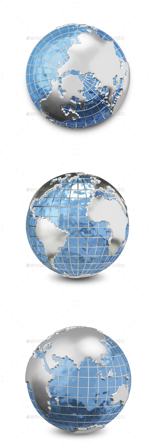 GraphicRiver 3D Illustration Metal Globe 21006690