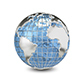 3D Illustration Metal Globe - GraphicRiver Item for Sale