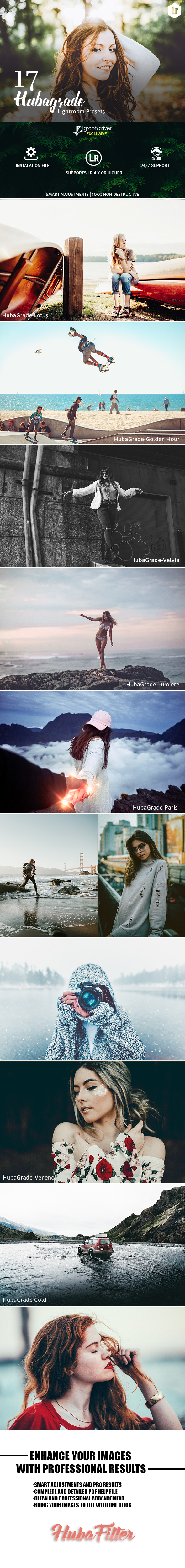 17 HubaGrade Lightroom Presets - Lightroom Presets Add-ons