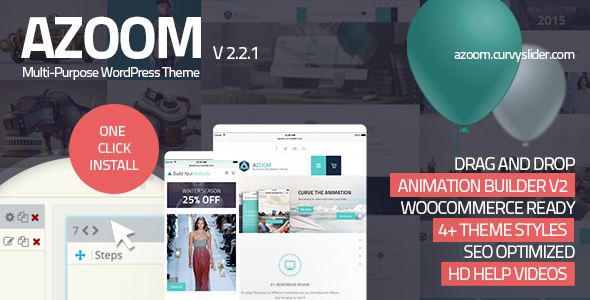 Azoom | Multi-Purpose Theme with Animation Builder - Corporate WordPress