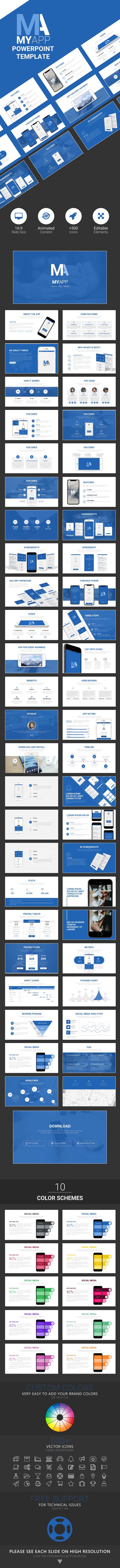 MyApp Powerpoint Template - Business PowerPoint Templates