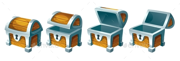 GraphicRiver Treasure Chest for Animation 21007302