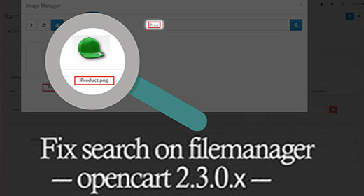Fix search in the file manager opencart