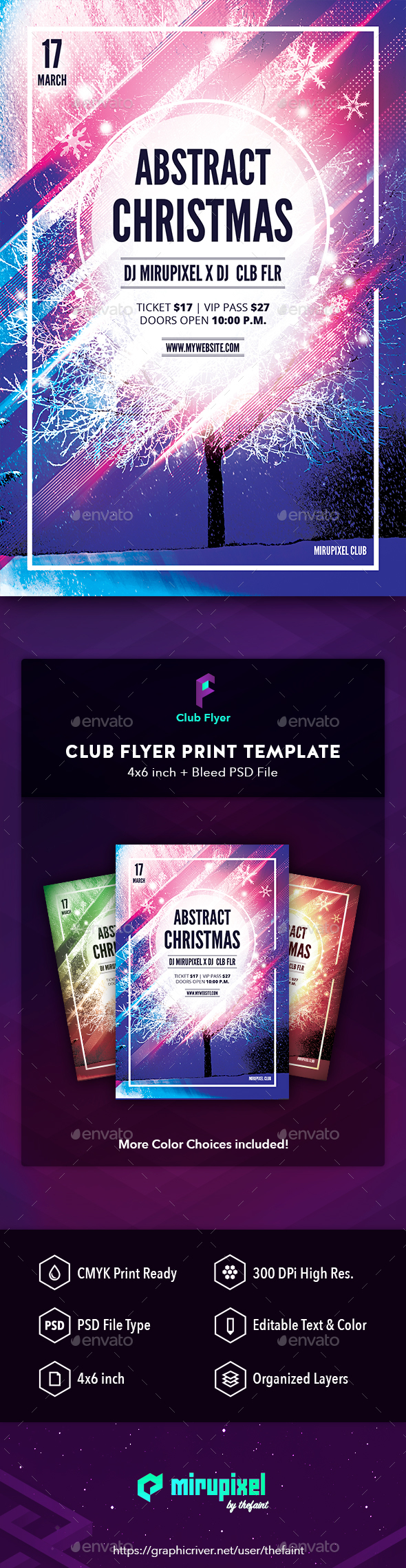 Club Flyer: Abstract Christmas - Clubs & Parties Events