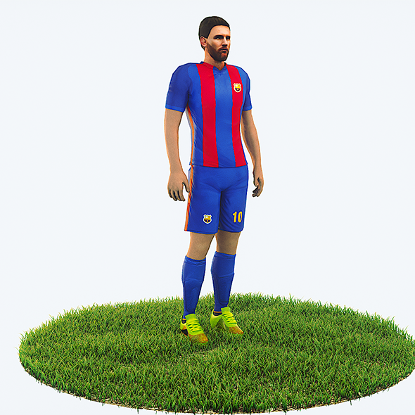 3DOcean Lionel Messi football Player game ready character 21007638