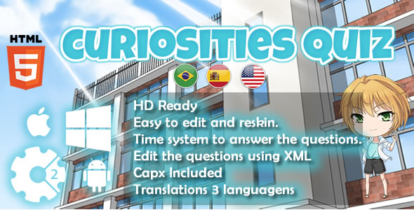 Download Curiosities Quiz - HTML5 Game (Capx)