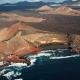 Flying Over Volcanic Lake El Golfo, Lanzarote, Canary Islands, Spain - VideoHive Item for Sale
