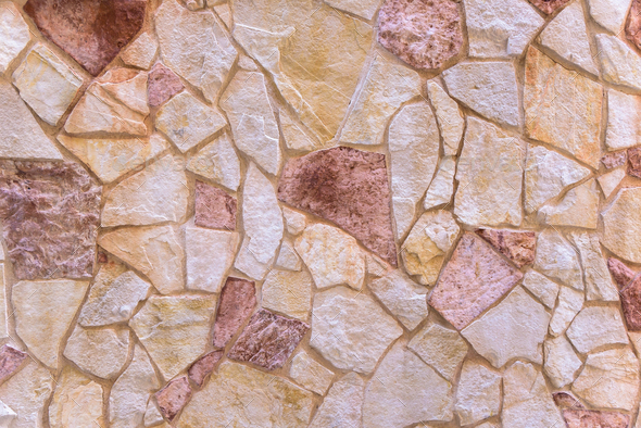 Background made of red stone wall - Stock Photo - Images