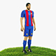 Luis Suarez football Player game ready character