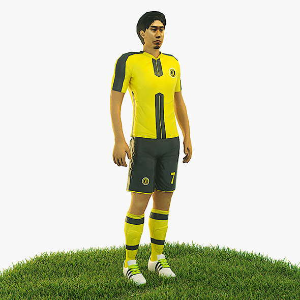3DOcean Shinji Kagawa football Player game ready character 21007967