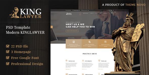 ThemeForest Kinglaw Attorney & Lawyer PSD Template 21008102