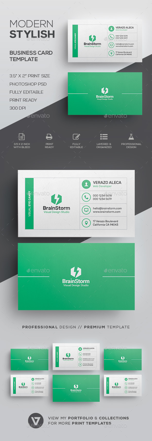 GraphicRiver Clean Modern Business Card Template 21008108