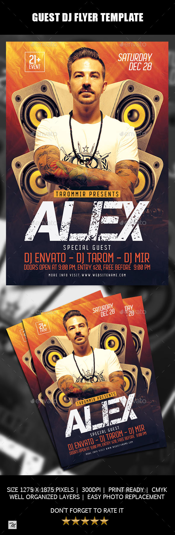 GraphicRiver Guest DJ Flyer Template 21008137