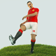 Zlatan Ibrahimovic Game Ready Football Player Kick Animation
