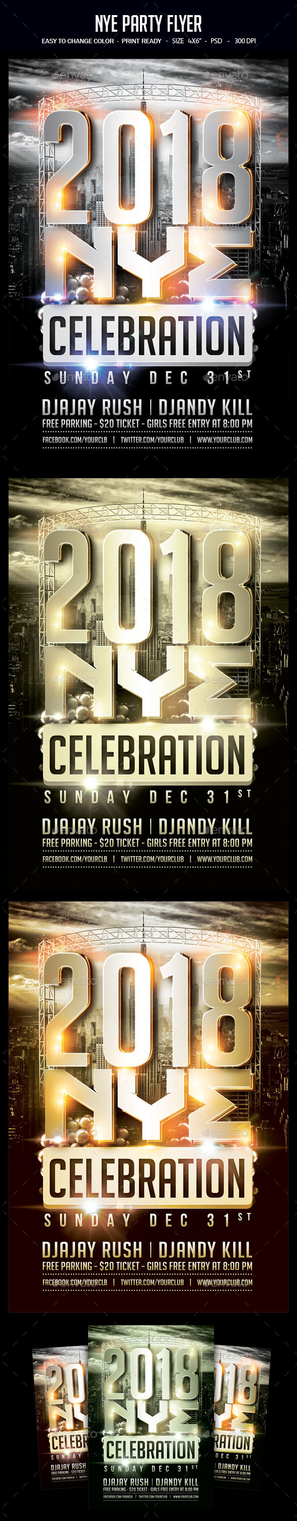 GraphicRiver NYE Party Flyer 21008256