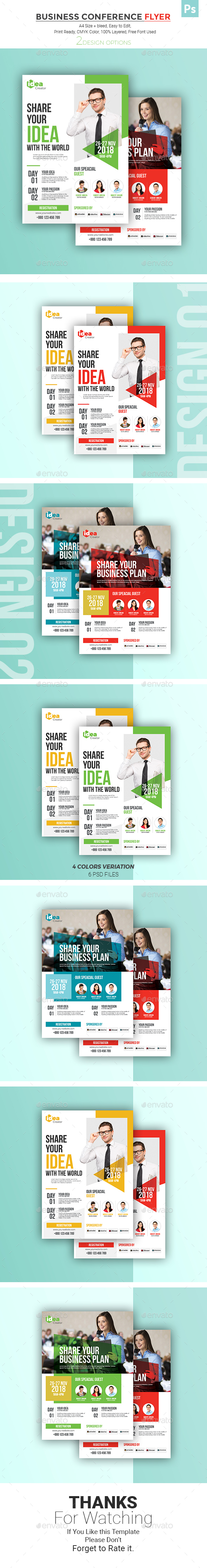 GraphicRiver Business Conference Flyer 21008264